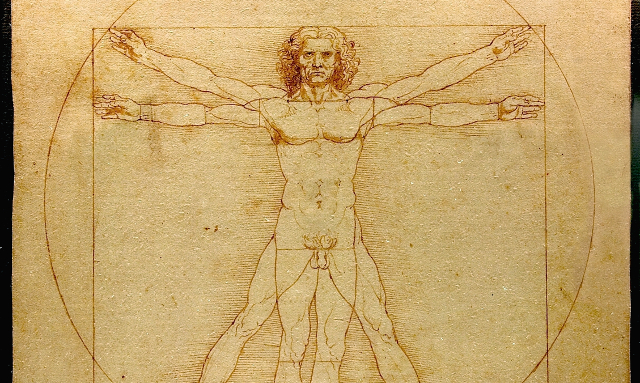 Designing your website: Leonardo DiVinci's sketch of a man